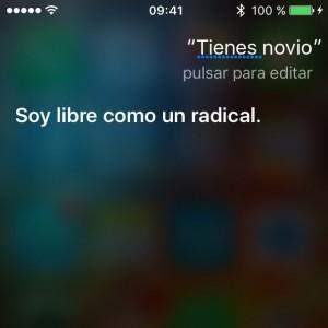 Soy libre como un radical.