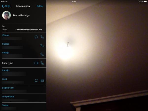 Llamar a un contacto desde el iPad