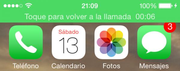 Llamada activa en el iPhone con Continuity