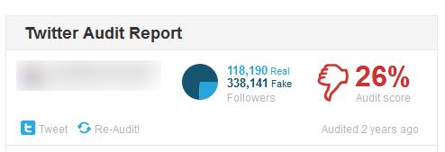 Cuenta con muchos seguidores falsos