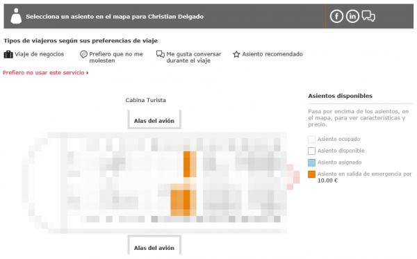 Elección de asiento en Iberia por Social Seating según los criterios