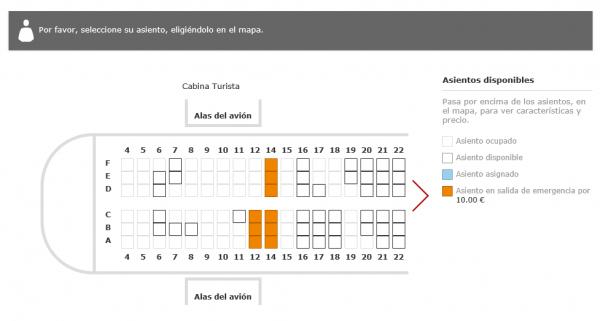 Selección de asiento (sin Social Seating)