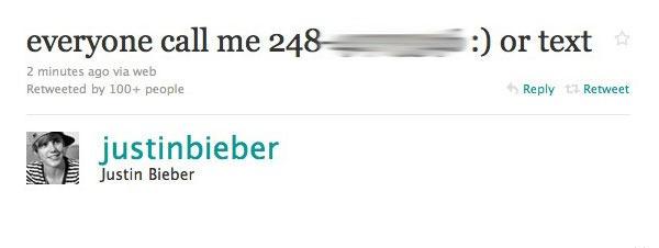 Tuit de Justin Bieber con un poco de mala idea...