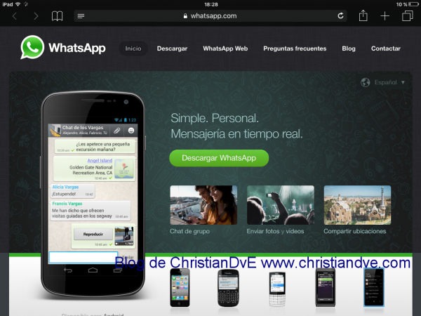 WhatsApp web en el iPad