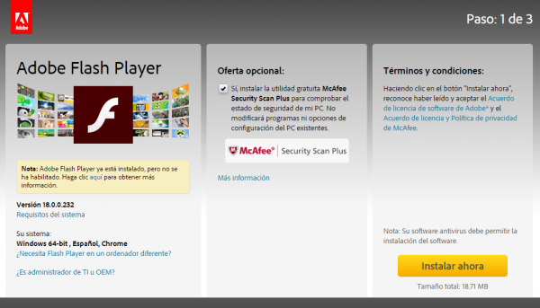 Adobe Flash para Chromium