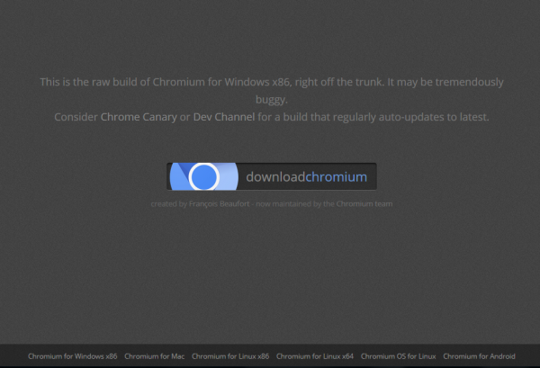 Descargar Chromium para Windows