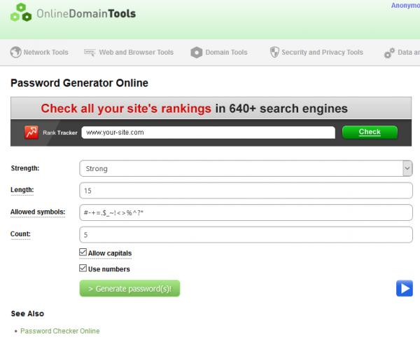 Generador de contraseñas online gratuito y seguro - Password generator online
