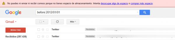 Buscar correos en Gmail por fecha: before