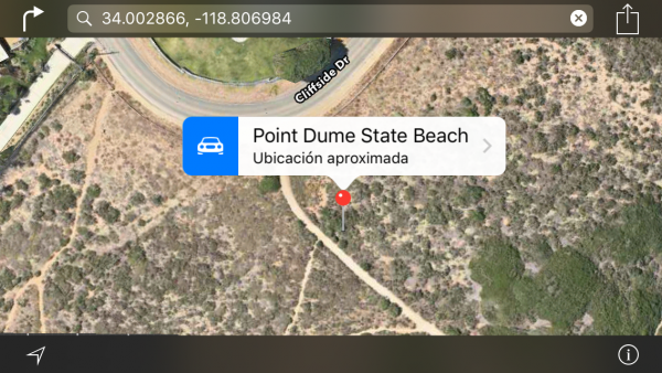 Apple Maps: buscar por coordenadas GPS