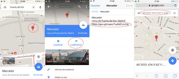 Cómo ver las coordenadas GPS de un sitio con la app de Google Maps