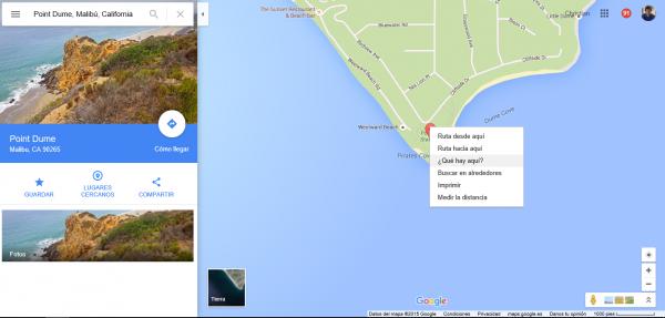 ¿Qué hay aquí? En Google Maps