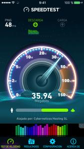 Speedtest de la conexión Wifi