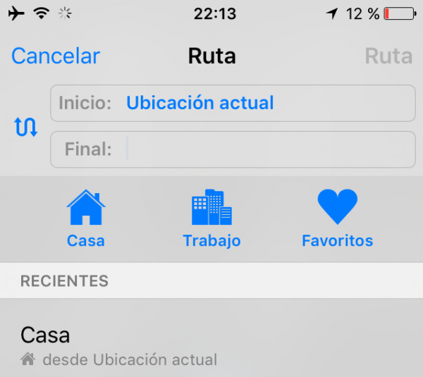 Lugares favoritos en Apple Maps