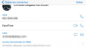 Direcciones encontrados en Mail