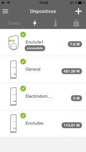 Dispositivos de dominio de monitorización de de energía
