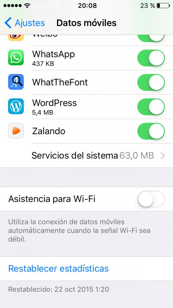 Asistencia por Wi-fi en el iPhone
