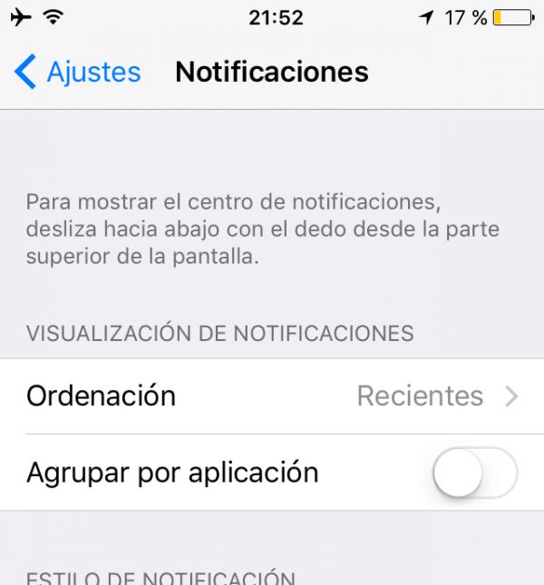 Organización de las notificaciones en el iPhone, iPad, iPod