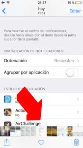 Miniaturas de las fotos en el carrete de iOS