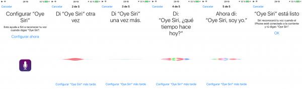 """Configurar """"Oye Siri"""""""
