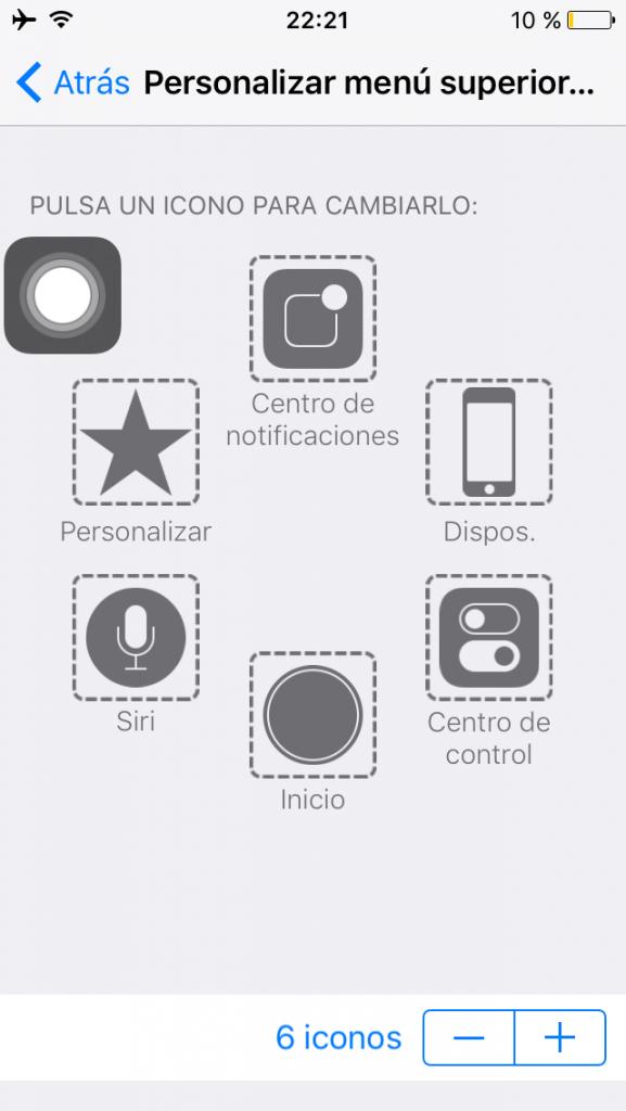 Personalizar el menú superior de Touchwiz