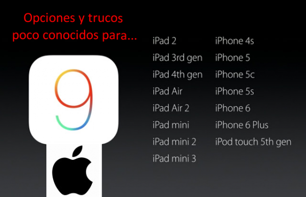 Opciones y trucos de iPhone, iPad y iPod touch