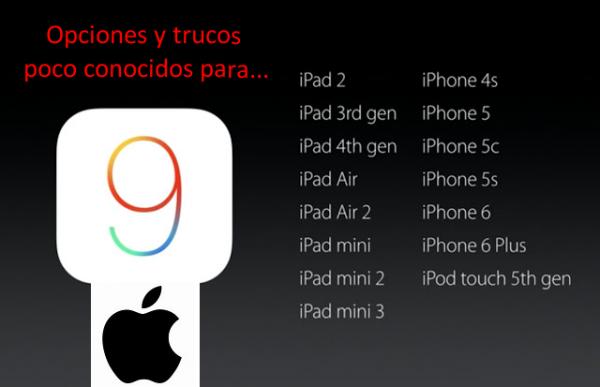 Opciones y trucos de iPhone, iPad y iPod touch