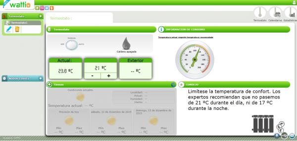 Control de la temperatura en la web