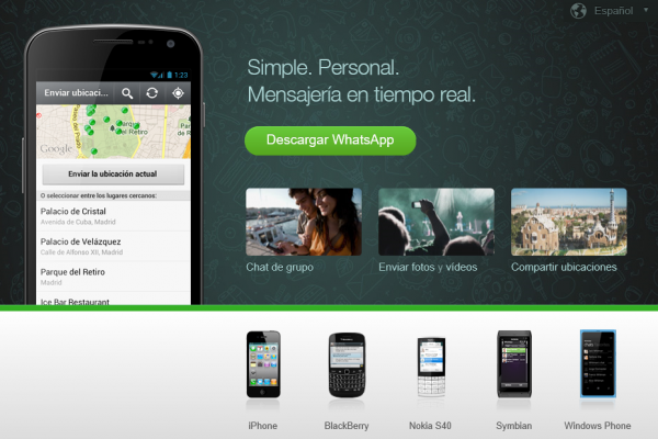 WhatsApp es multiplataforma móvil