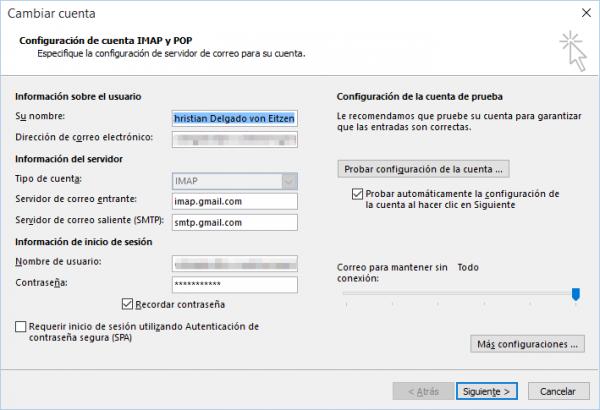 Configurar una cuenta de Gmail o Google Apps en Outlook