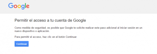 Gmail: permitir acceso a la cuenta