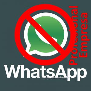 El uso de WhatsApp es personal