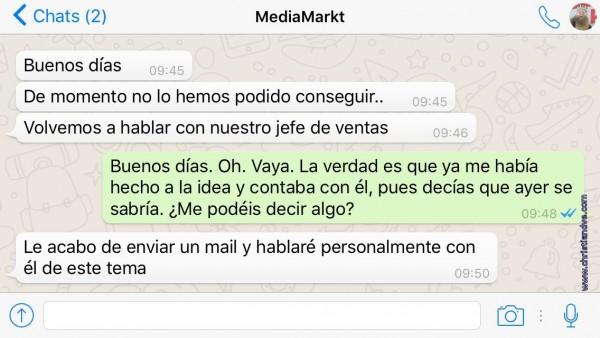 WhatsApp con MediaMarkt