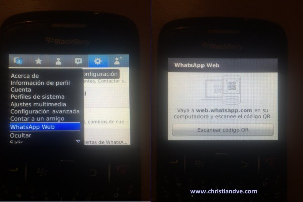 WhatsApp web en BlackBerry