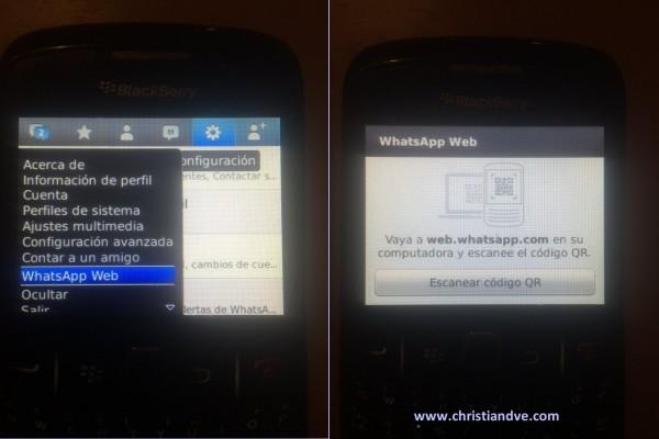 WhatsApp web en BlackBerry