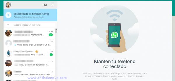 WhatsApp web: mantén conectado tu teléfono