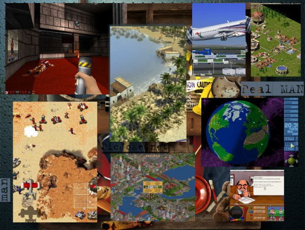 Age of Empires, Command and conquer, Caesar III, Transport Tycoon, Microsoft Flight Simulator, Duke Nukem 3D, X-Com UFO defense, MadTV … Open source Windows, Linux, Mac