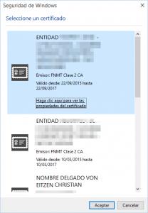 Certificados digitales de la FNMT