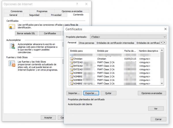 Exportar certificado - Microsoft Internet Explorer