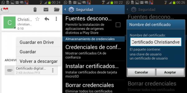 Cómo instalar el certificado de la FNMT en Android (smartphones, tabletas,…)