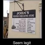 La piedra que pronostica el tiempo...
