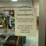 Reparación y mantenimiento: podemos reparar cualquier cosa. (Toque fuerte en la puerta que el timbre no funciona)