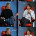 Steve Jobs y Bill Gates muy amigos