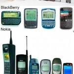 Evolución móvil: BlackBerry, Nokia y iPhone