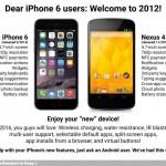 Usuarios de iPhone 6 (2014) bienvenidos a 2012