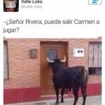 Señora Rivera, ¿Puede salir Carmen a jugar?