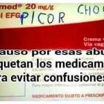 Un aplauso para esas abuelas que etiquetan los medicamentos para evitar confusiones...