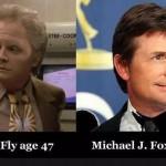 Marty MacFly y Michael J. Fox