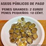 Aseos públicos de pago... Para caballeros