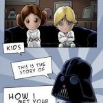 Esta es la historia real de cómo conocí a vuestra madre... Star Wars...