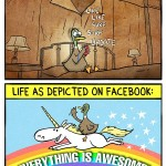 Diferencias entre la vida real y lo que se comparte en redes como Facebook...